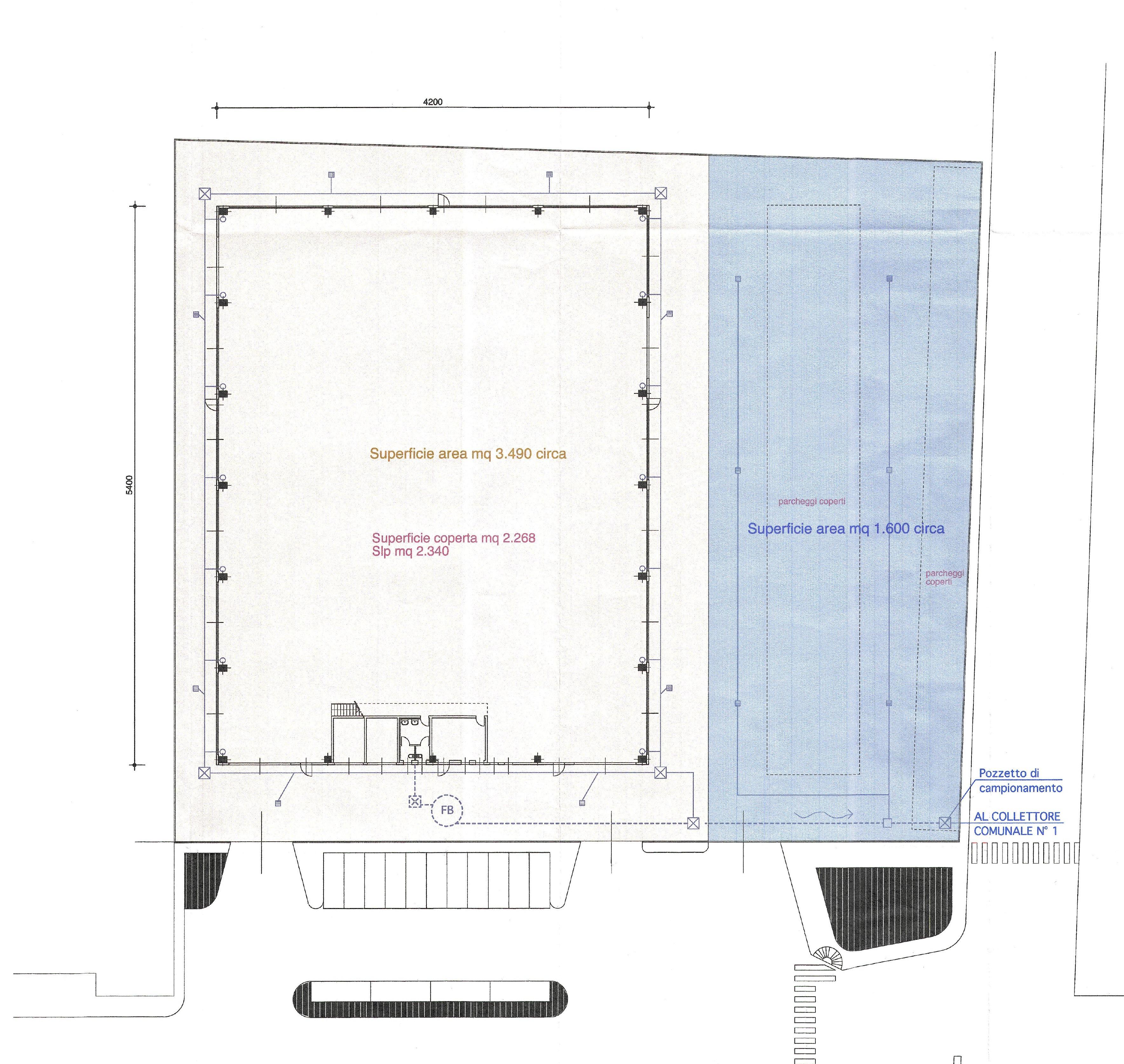 Agrate Brianza – Capannone di 2.300 mq con residuo edificabile